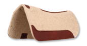 Wool Felt Barrel Racer Contour Pad 32x30 Tan