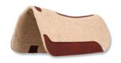 Wool Felt Barrel Racer Contour Pad 32x30 Tan