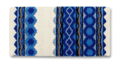 Riverland - 36x34 - Crm/Periwinkle/ Royal Blue/Honey
