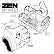 ZSM-HV Men's Short Finger Zen Hi-Vis additional picture 8