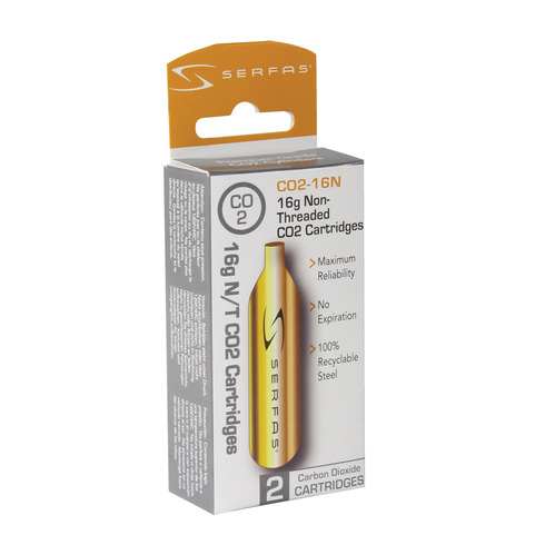 16G CO2 Non Threaded Cartridge CO2-16N picture