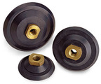 """4"""" Hard Rubber Backplate Disc with 5/8"""" - 11 Nut"""