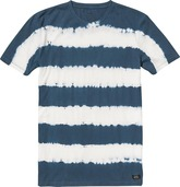 MOON SHINE TEE (TIE DYE STRIPE/INK)