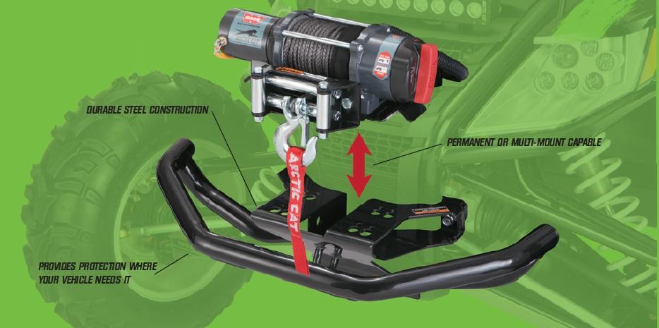 Textron//Arctic Cat Steel Bumper for Front Winch Mount 2012-2018 Wildcat 1436-694