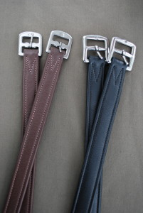 RED BARN CALF LINED STIRRUP LEATHERS picture
