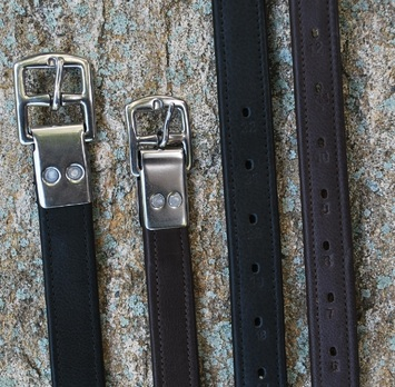 BLACK OAK RIVETED HALF HOLE STIRRUP LEATHERS (NUT BROWN) picture