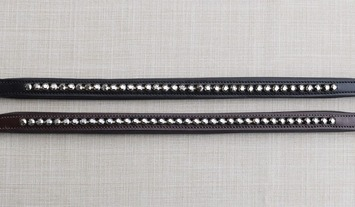 RED BARN GRAPHITE CRYSTAL BROWBAND picture