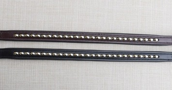 RED BARN SILVER BEAD BROWBAND picture