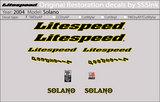 2004 Solano Decal Set