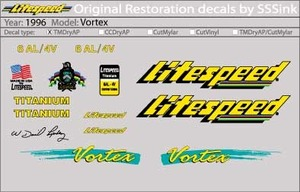 1996 VORTEX DECALS picture