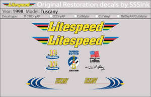 1998 Tuscany Decal Set picture