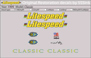 1999 Classic Decal Set picture