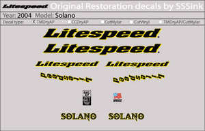 2004 Solano Decal Set picture