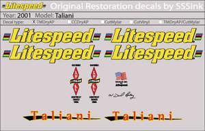 2001 Taliani Decal Set picture