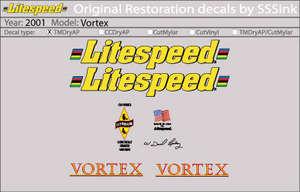2001 Vortex Decal Set picture