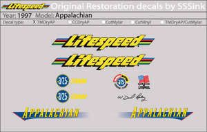 1997 Appalachian Decal Set picture