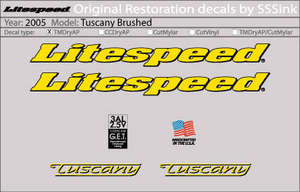 2005 Tuscany Brushed Decal Set picture