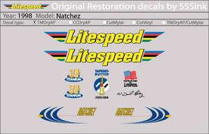 1998 Natchez Decal Set picture