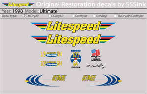 1998 Ultimate Decal Set picture