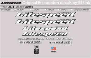 2004 Vortex Decal Set picture