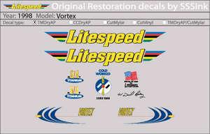 1998 Vortex Decal Set picture