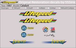 1997 Catalyst Decal Set picture