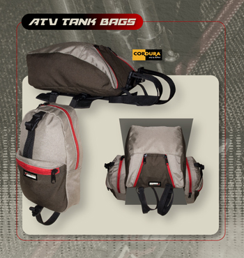 ATV Tank Bag Set With Top Bag Option picture