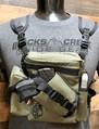 """RAPTOR"" MULTI PURPOSE BINO/GUN CARRYING SYSTEM WITH HARNESS - RANGER GREEN"