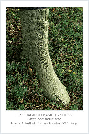 1732 Bamboo Baskets Socks picture