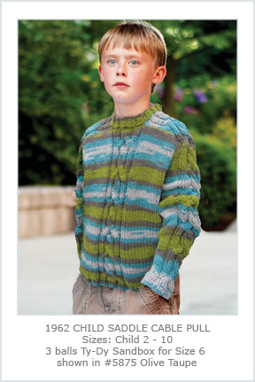 1962 Child Saddle Cable Pullover picture
