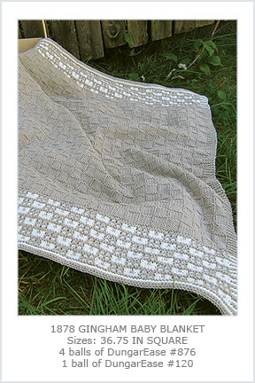 1878 Gingham Baby Blanket picture
