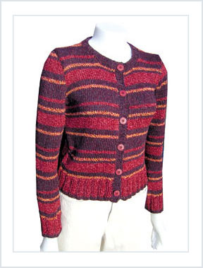1428 Recycled Stripes Cardigan picture