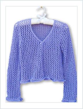 1526 Purple Lace Cardigan picture