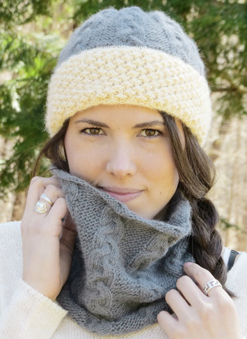 2322 Sherpa Hat and Cowl Set - Digital picture