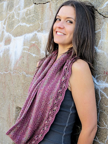 2220 Woven Flowers Infinity Scarf picture