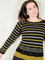 2268 Windows and Stripes Pullover