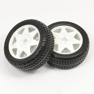 Carisma M48S Rear Wheel/Tyre Mounted (Pr) picture