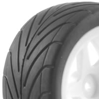 Fastrax 1/10th Mounted Buggy Tyres Lp 'Arrow' Rear picture