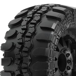 Proline Interco Tsl 3.8 Swamp Tyres On F11 1/2 Offset 17mm Black Wheels picture
