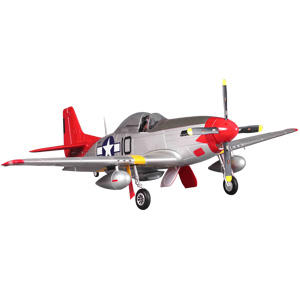 FMS P51 Mustang Artf W/Retract W/O Tx/Rx/Bat - Red Tail (V8) picture