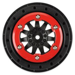 Proline Protrac Susp. Kit F-11 2.2/3.0 Red/Blk Beadloc Wheels picture