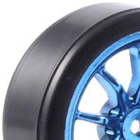 Fastrax 1/10th Street Wheel/ Drift Tyres 10-Spoke Chrome picture