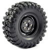 Fastrax 1:10 Crawler Sawblock 1.9 SCale Steel Wheel �108mm (Black)