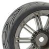 Fastrax 1/10 Street/Tread Tyre 20Sp Gun Metal Wheel