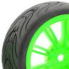 Fastrax 1/10 Street/Tread Tyre 20Sp Neon Green Wheel