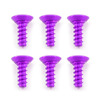 Fastrax M3 X 8Mm Self Tapping Purple Alum (6)