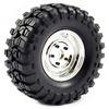 Fastrax 1:10 Crawler Sawblock 1.9 SCale Steel Wheel �108mm (Chrome)