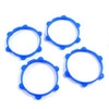 Fastrax 1/10th Rubber Tyre Bands Blue (4)