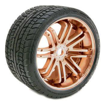 Sweep Road Crusher Belted Tyre Bronze 17MM Wheels 1/4 Offset picture