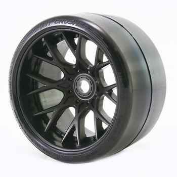 Sweep Vht Crusher Slick Belted Tyre Black 17MM Wheel 1/2 Offs picture